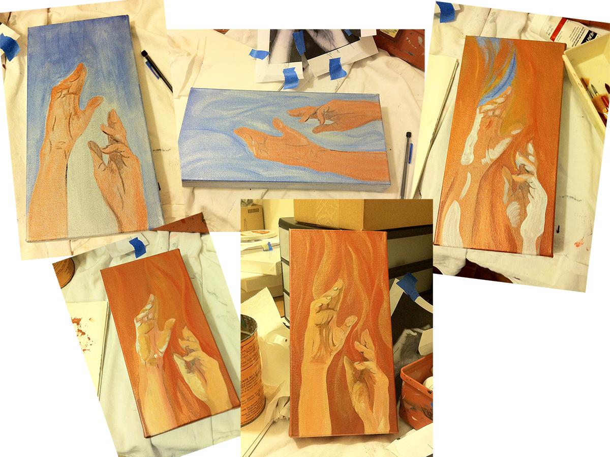 painting progression